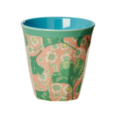 Rice Dk | Two Tone Melamine Cup Leaves & Flower Print