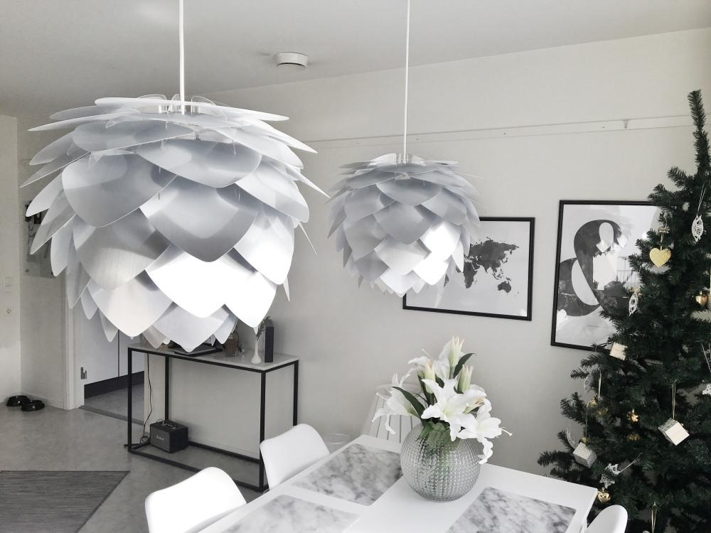 Vita Lighting | Large Silvia Silver Pendant Shade