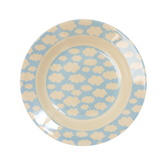 Rice DK | Kids Melamine Blue Bowl with Cloud Print