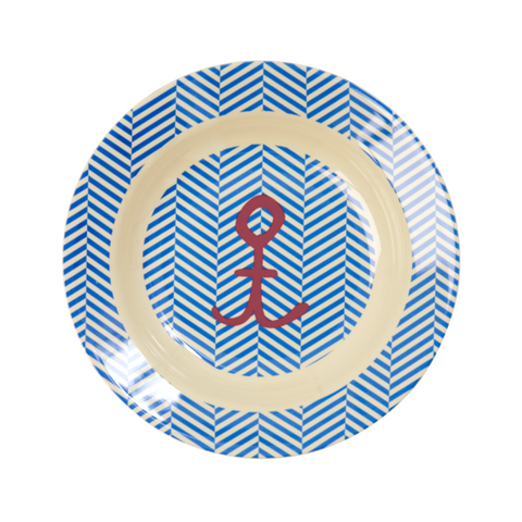 Rice DK | Kids Melamine Bowl with Sailor Stripe and Anchor Print