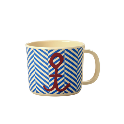 Rice DK | Baby Melamine Cup with Sailor Stripe and Anchor Print