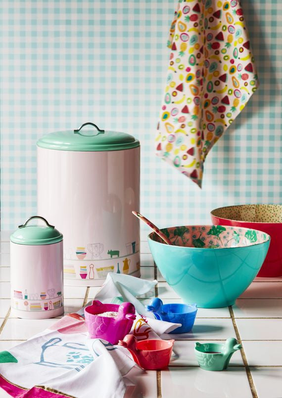 Rice Dk | Enamel Kitchen Jar with Charlottes Cupboard Print