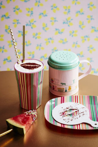 Rice Dk | Enamel Sugar Sprinkler with Charlottes Cupboard Print