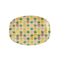 Rice DK | Melamine Rectangular Plate with Pineapple Print