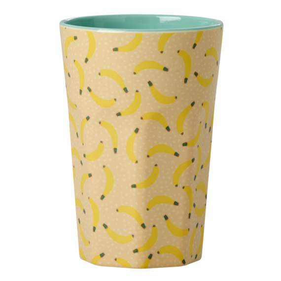 Rice Dk | Tall Melamine Latte Cup with Banana Print