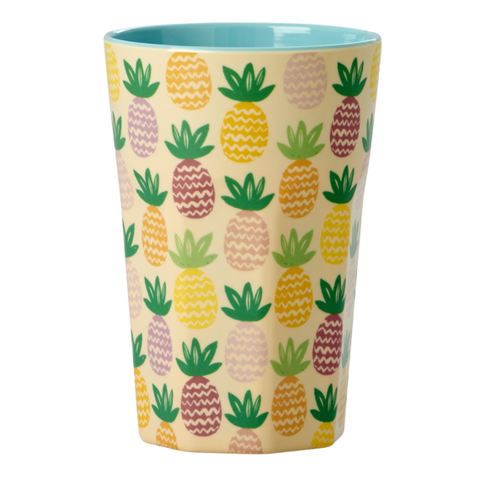 Rice Dk | Tall Melamine Latte Cup with Pineapple Print