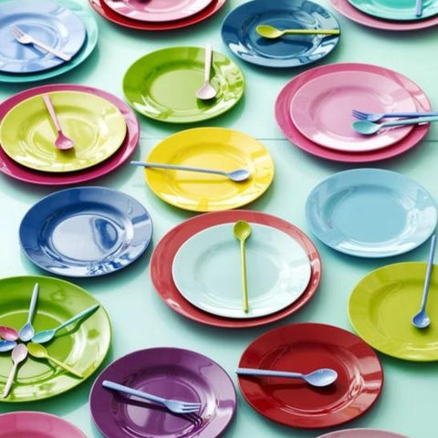 Rice DK Melamine Lunch Plates in Assorted Colors