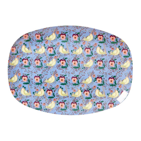 Rice DK | Melamine Rectangular Tray Dove Flower Print