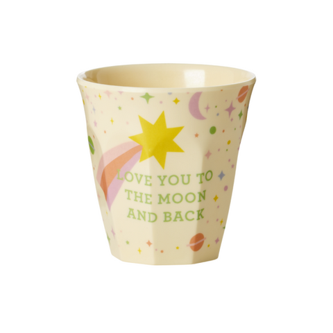 Rice DK | Kids Small Melamine Cup Pink Universe Print