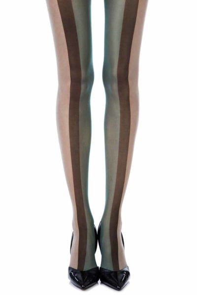 Zohara Walk The Line Skin Sheer Print Tights