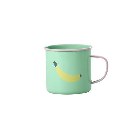 Rice DK | Pastel Green Enamel Mug with Banana Print