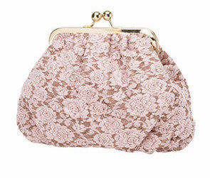 Molly Marais | Pink Lace Clutch Bag