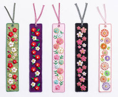 Toconuts | Embroidery Floral Bookmark Collection