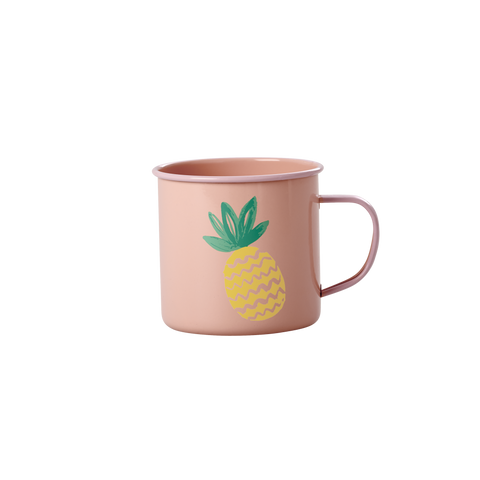 Rice DK | Coral Enamel Mug with Pineapple Print