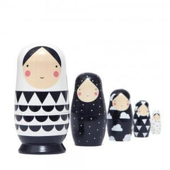 Psi | Black and White Nesting Dolls Set