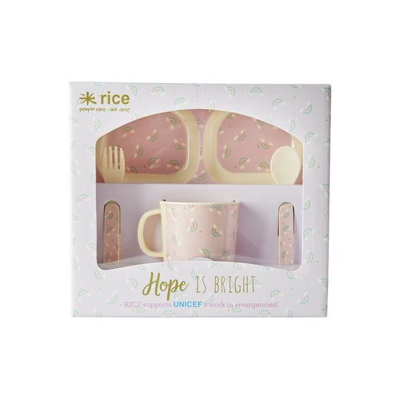 Rice DK | Melamine Baby Set Dinner Rainbow Print