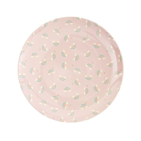 Rice DK | Kids Melamine Lunch Plate with Rainbow Print