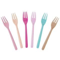 Rice DK | Set of 6 Melaminea Cake Forks Lbc - Life is better