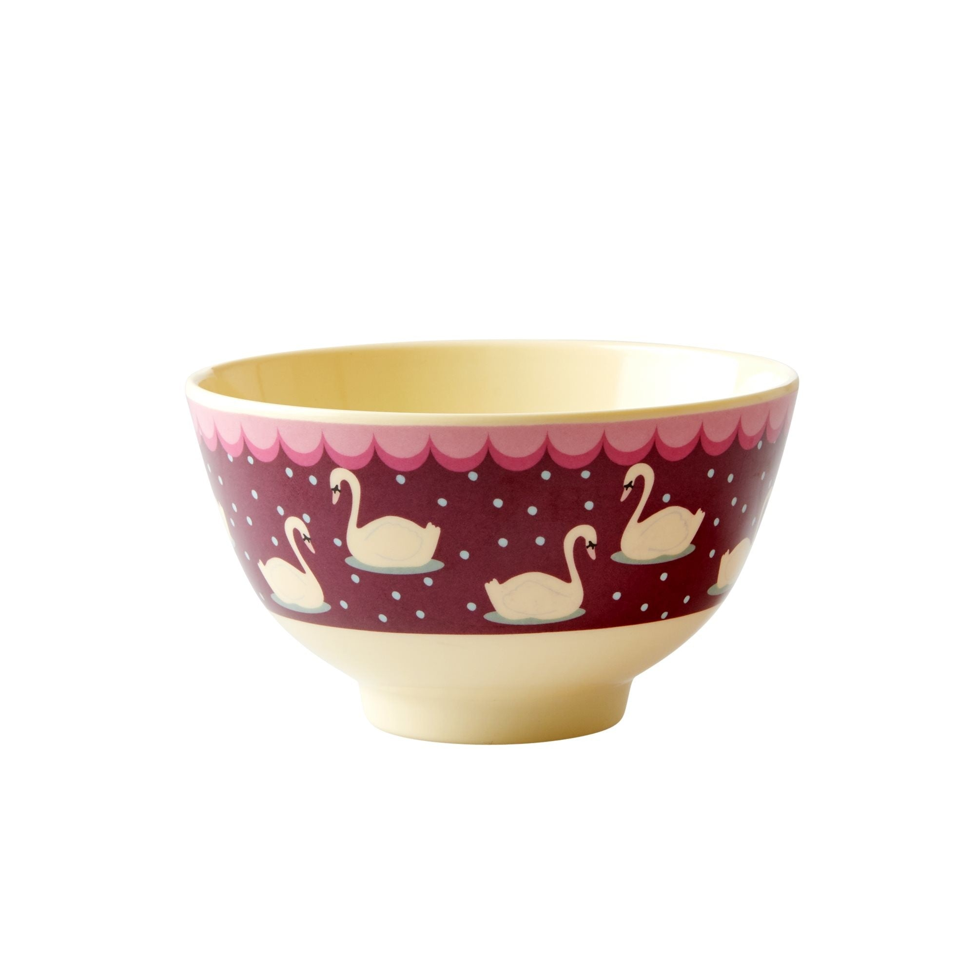 Rice DK Two-Tone Melamine With Swans and Purpulish background Print Cup
