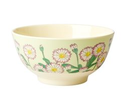 Rice DK Two-Tone Melamine Purpulished edged Flowery Chrysanthemum with beige Print Cup