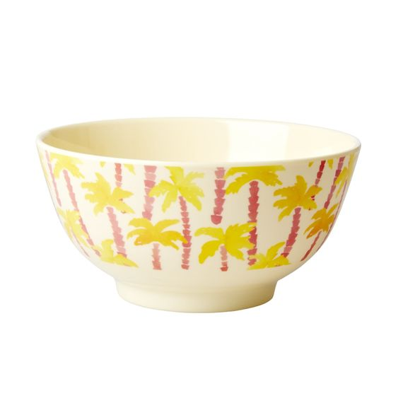Rice DK Two-Tone Melamine Pink and yellow palm tree with beige Print Cup