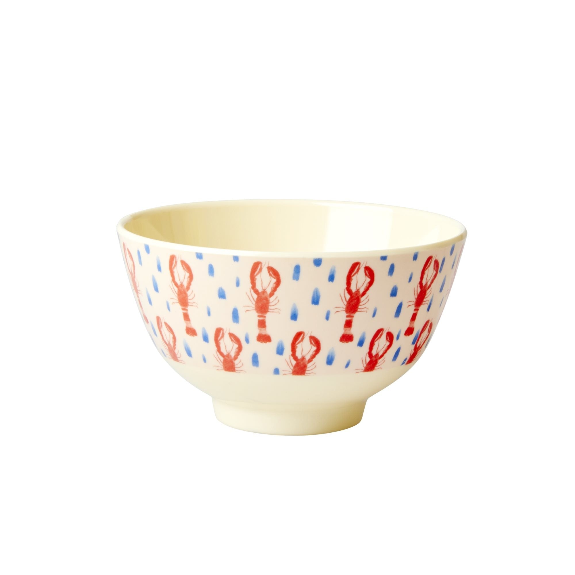 Rice DK Red Lobster Print Two Tone Melamine Cup