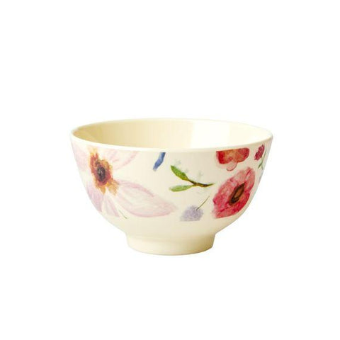 Rice DK | Two-Tone Melamine Small Bowl Selmas flower print