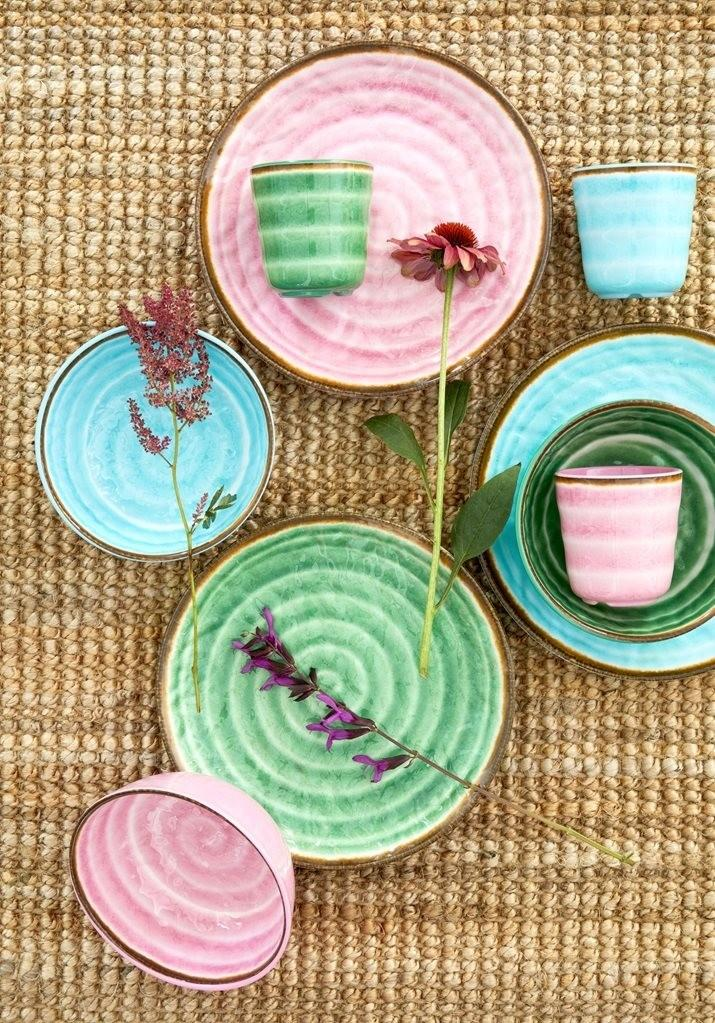 Rice Dk Swirl Print Plate in Assorted Colors