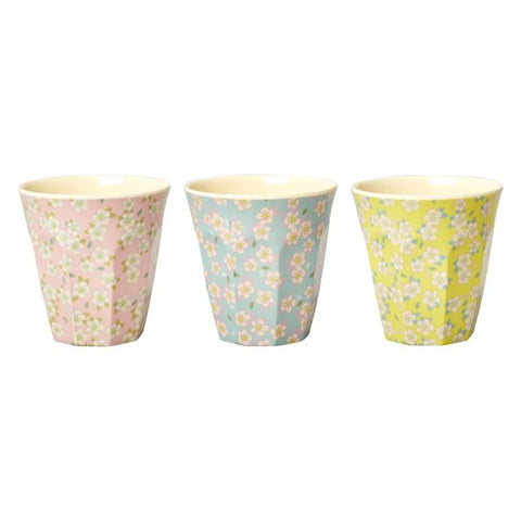 Rice Dk | Two Tone Melamine Cup Medium Flower Print