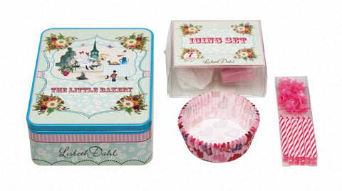 Lisbeth Dahl Cupcake Set in Metal Box