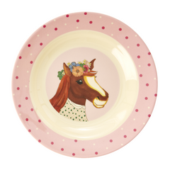 Rice Dk Melamine Kid Farm Animal Bowl
