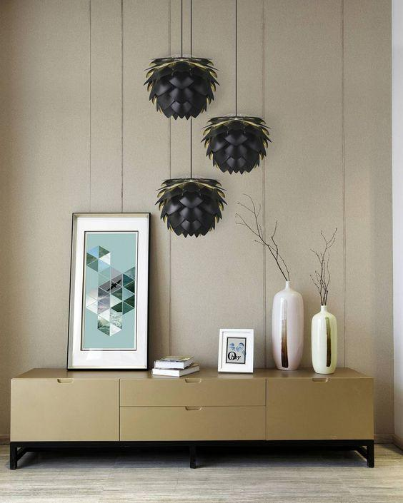 Umage Lighting | Mini Aluvia Anthracite Aluminum Pendant Shade