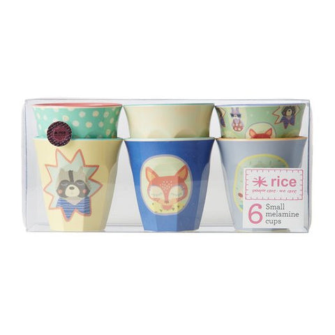 Rice DK | Set of 6 Small Happy Camper Boys Melamine Cups
