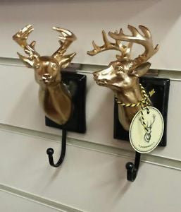 Temerity Jones | Black and Gold Stag Head Hook