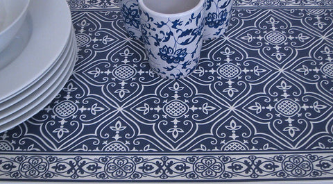 Tiva Design | Blue and White Designed Runner