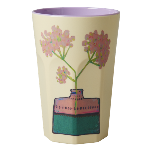 Rice DK | Melamine Floral Two Tone Latte Cup