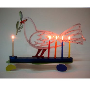 David Gerstein | Hanukkah Menorah Dove
