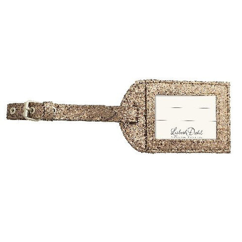 Lisbeth Dahl | Brown Glitter Luggage Tag