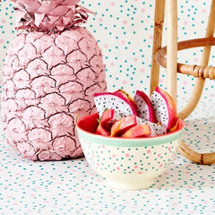 Rice DK | Small Two-Tone Melamine Bowl with Connecting the Dots Print