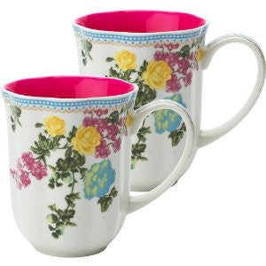 Lisbeth Dahl | Set of 2 Florence Porcelain Coffee Mugs