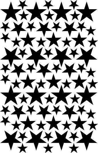 Wall Decal Black Star Stickers | Tayo Studio