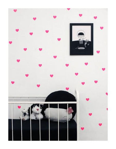 Wall Decal Pink Heart Stickers | Tayo Studio