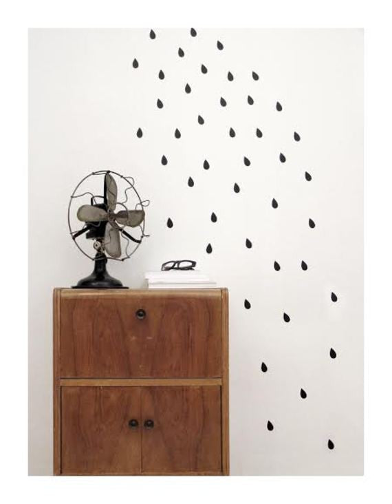 Wall Design Black Drop Stickers