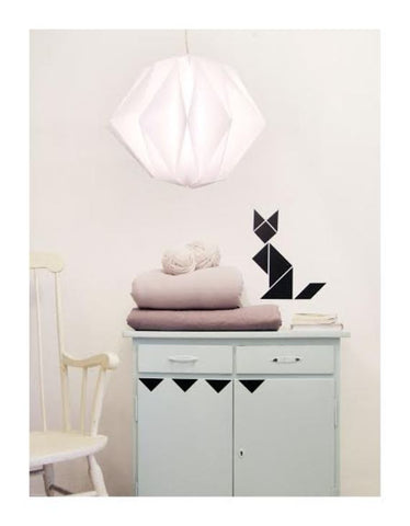 Wall Decal Black Tangram Animal Stickers | Tayo Studio