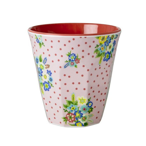 Rice DK Melamine Red Dots and Flowers Cup