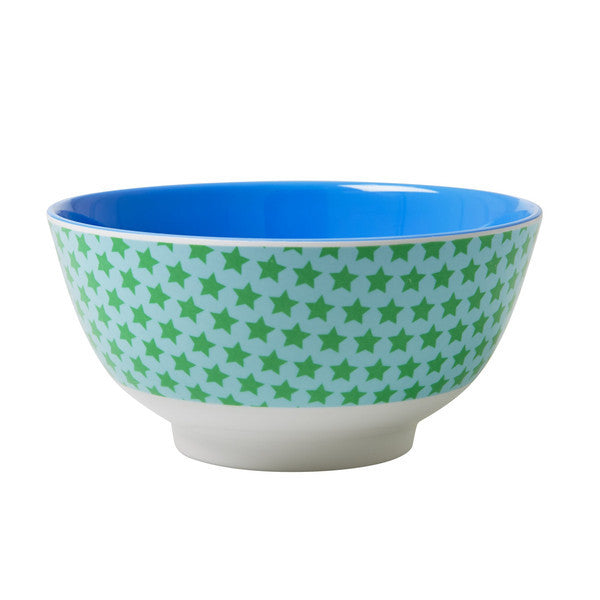 Rice DK | Two-Tone Melamine Bowl Star Print
