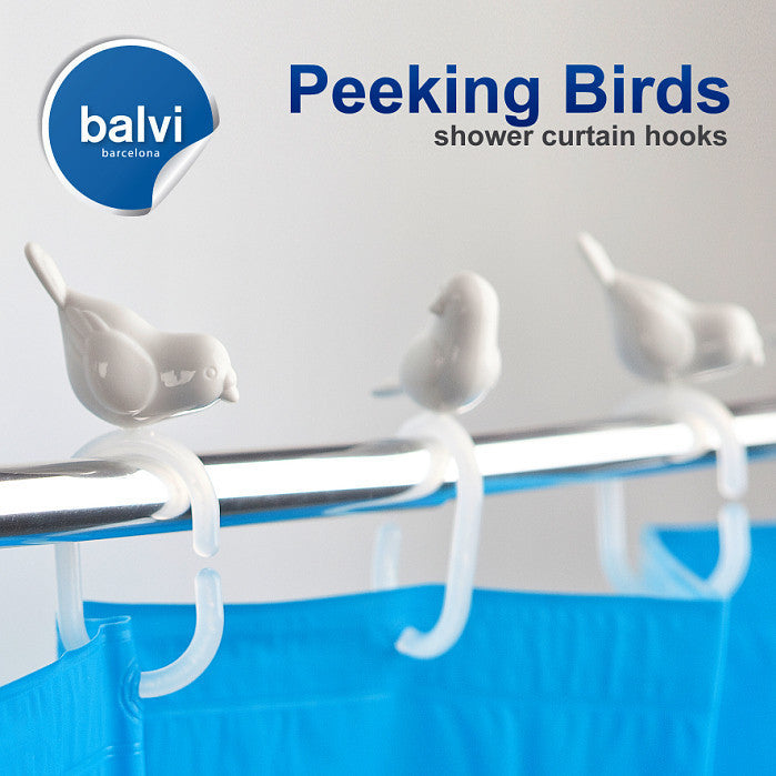 Balvi | Peeking Birds Shower Curtain Hooks