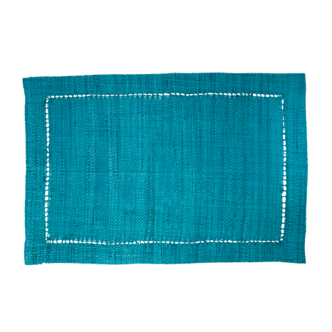 Rice Dk | Raffia Green Placemat Rectangular