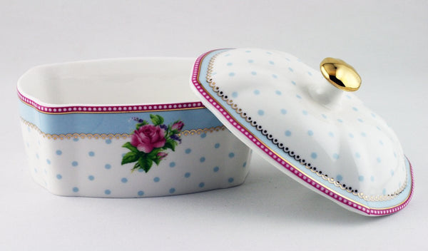 Lisbeth Dahl | Vintage Flower Designed Butter Dish