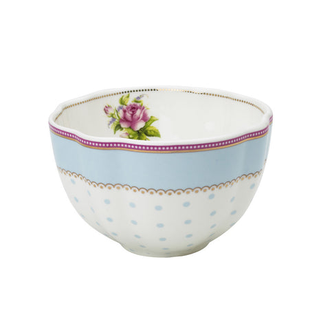 Lisbeth Dahl | Small Flower and Polka Dots Porcelain Bowl